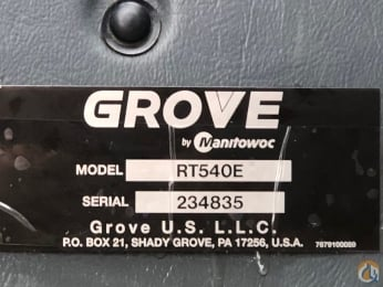 2015 Grove<BR />RT540E slide 15