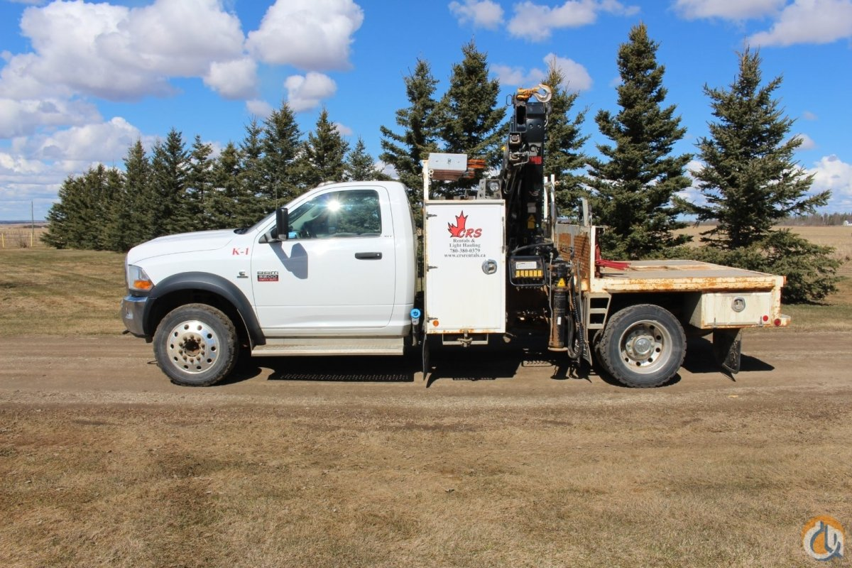 2011 Dodge 5500 Hiab 77 Knuckle Picker Crane for Sale in Grande Prairie Alberta on CraneNetwork.com