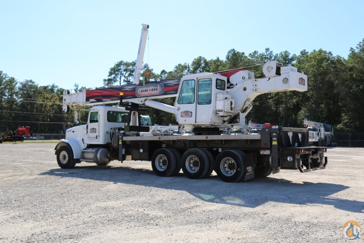 Used Manitex 5096S boom truck mounted to 2009 Peterbilt 367 tri-drive chassis Crane for Sale in Houston Texas on CraneNetworkcom