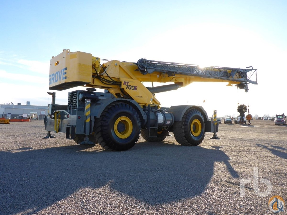 Sold 2007 GROVE RT700E 60 Ton 4x4x4 Rough Terrain Crane Crane for  in Denver Colorado on CraneNetworkcom
