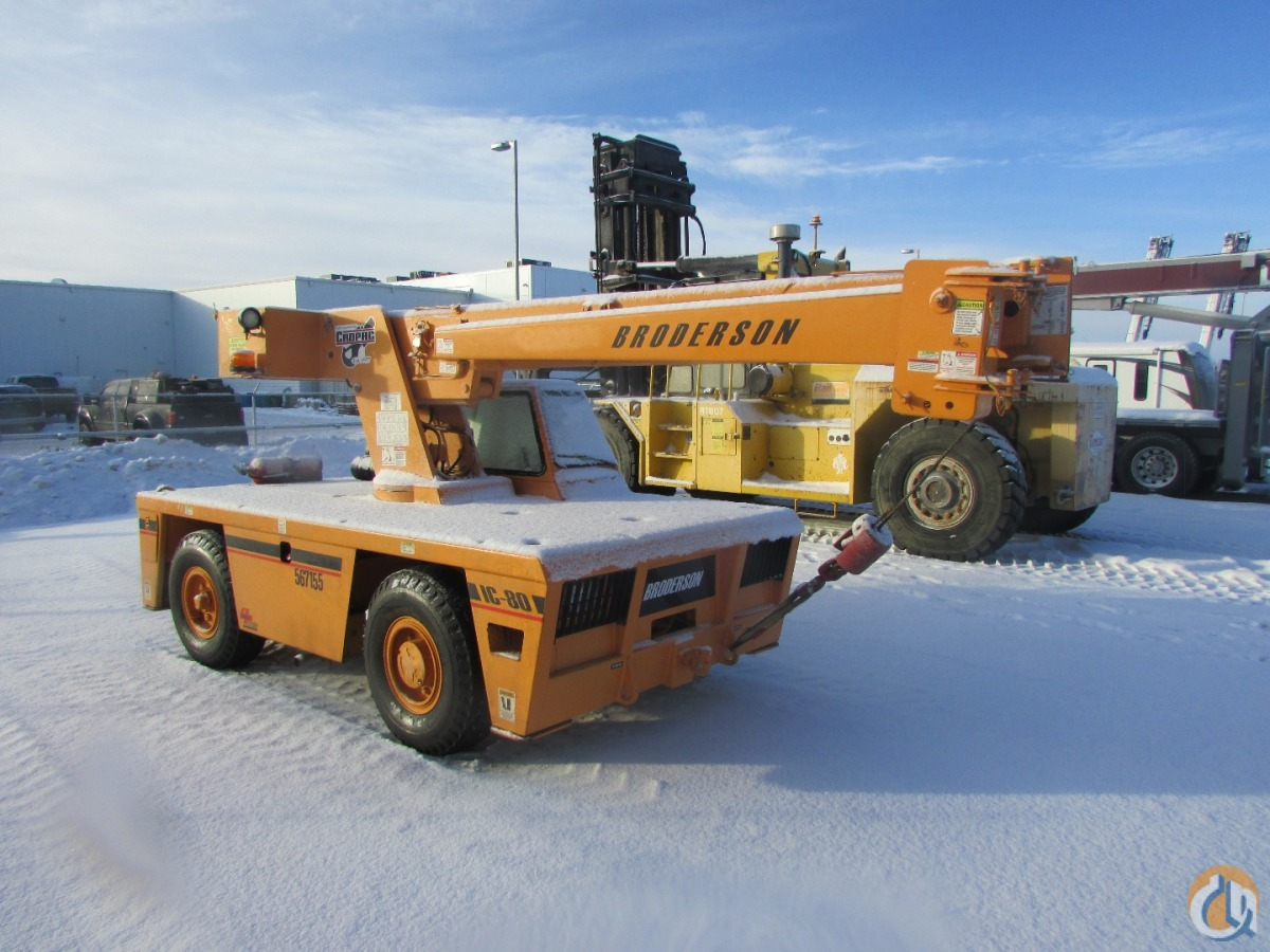 2007 Broderson IC80-3G Crane for Sale or Rent in Nisku Alberta on CraneNetworkcom