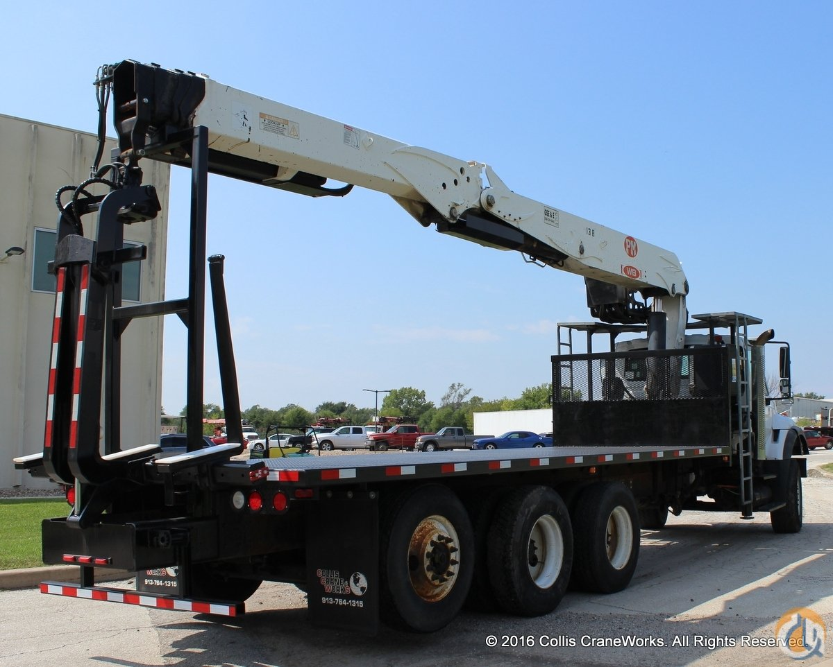 Used PM WB 60 crane installed on 2005 International 7600 chassis. Crane for Sale in Olathe Kansas on CraneNetwork.com