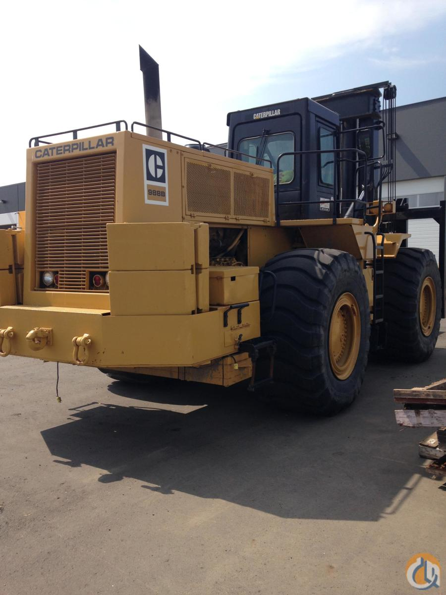 1999 Caterpillar 988B 55000 lb Rough Terrain Forklift Crane for Sale or Rent in Edmonton Alberta on CraneNetwork.com