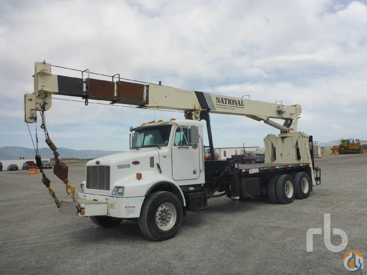 Sold 2004 PETERBILT PB330 TA wNational 800D 23 Ton Boom Truck Crane for  in Salt Lake City Utah on CraneNetworkcom