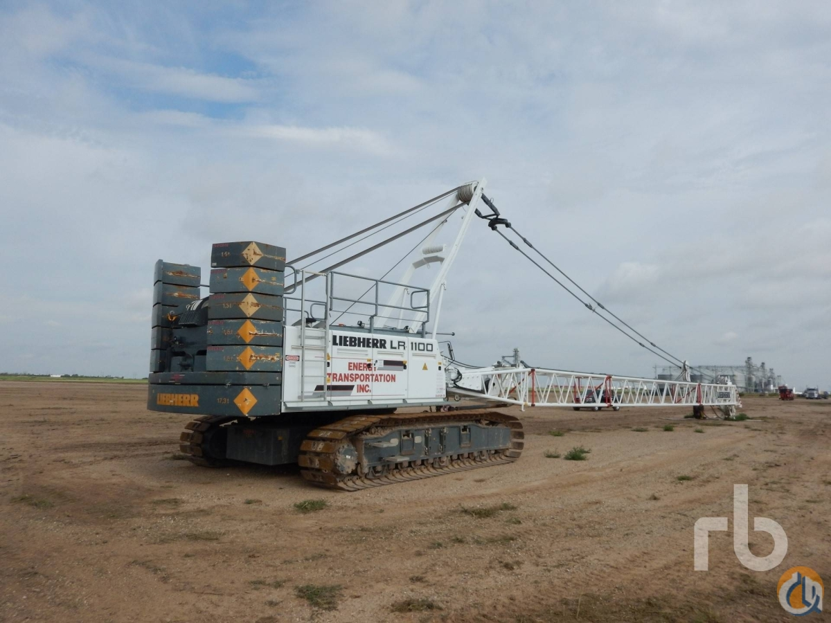 Sold 2008 LIEBHERR LR1100 100 Ton Self-Erecting Crawler Crane Crane for  in Denver Colorado on CraneNetworkcom