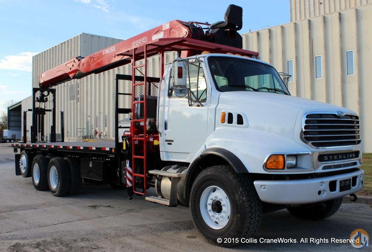 Used Fassi F360SE wallboard crane mounted to 2006 Sterling LT9500 chassis Crane for Sale in Olathe Kansas on CraneNetwork.com