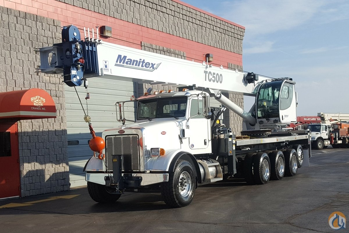 Manitex TC500 Boom Truck Cranes Crane for Sale New TC500 50 ton Manitex on Peterbilt Tri-drive in Milwaukee  Wisconsin  United States 219087 CraneNetwork