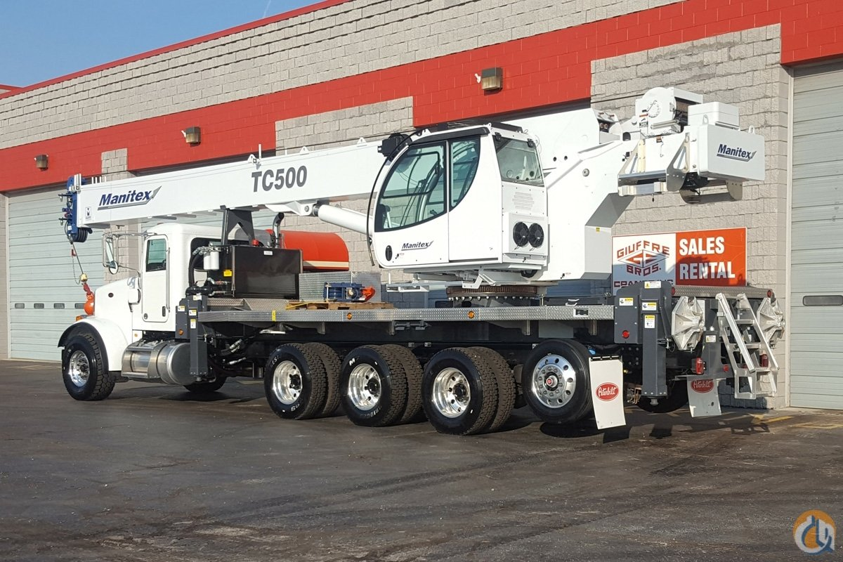 New TC500 50 ton Manitex on Peterbilt Tri-drive Crane for Sale in Milwaukee Wisconsin on CraneNetworkcom