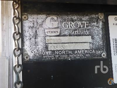 1996 GROVE RT880 Crane for Sale in Nisku Alberta on CraneNetworkcom