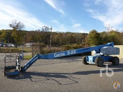 2000 GENIE S85 Crane for Sale in Franklin Connecticut on CraneNetwork.com