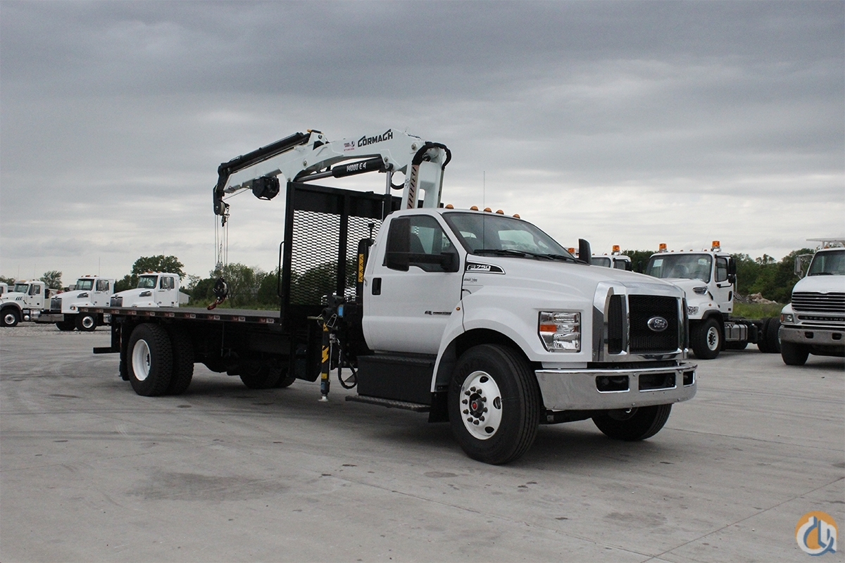 2018 Cormach 14000 E4 mounted to 2018 Ford F-750 chassis Crane for Sale in Olathe Kansas on CraneNetwork.com