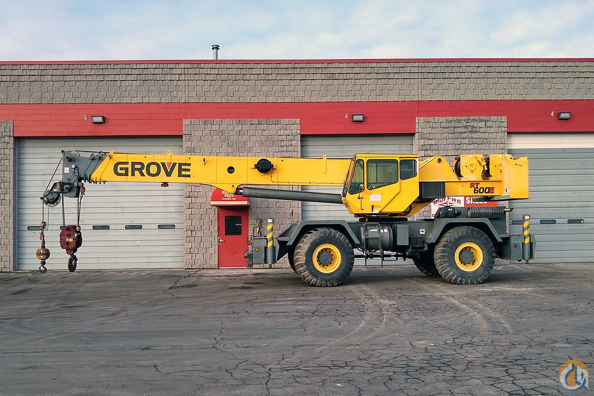 USED GROVE RT 600E Crane for Sale in Milwaukee Wisconsin on CraneNetwork.com
