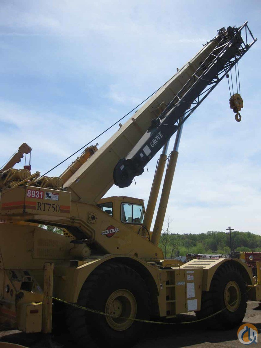 Grove rt750b crane for sale in knoxville tennessee on for Crane grove