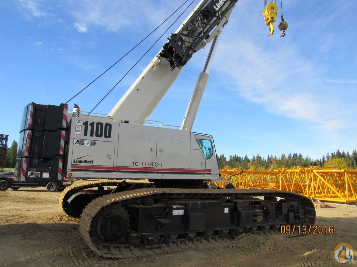 Link-Belt TCC-1100 Crawler Telescopic Boom Cranes Crane for Sale LINK BELT TCC 1100 2014    875000 in Edmonton  Alberta  Canada 208927 CraneNetwork