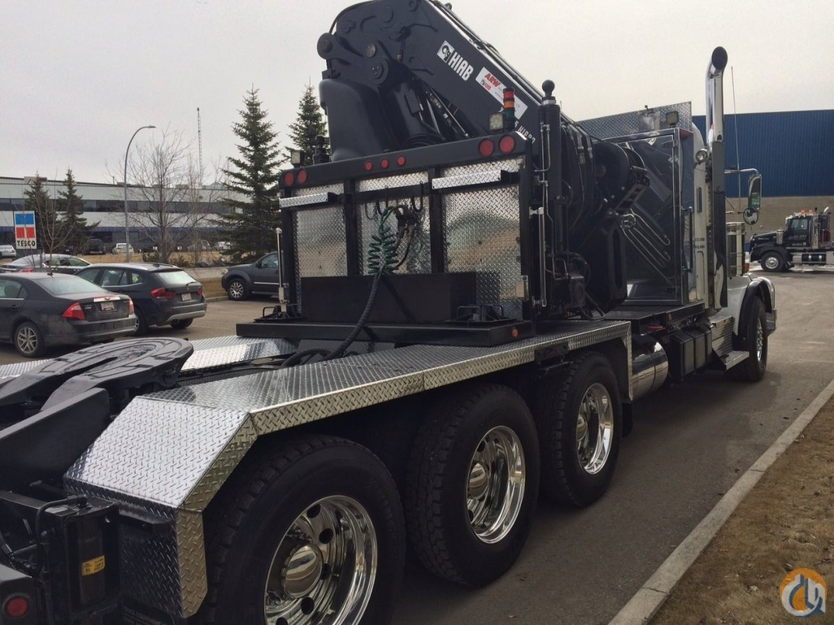 Sold Kenworth T800 Tri Drive with Hiab 855-8 Hi Pro Crane Crane for  in Calgary Alberta on CraneNetwork.com