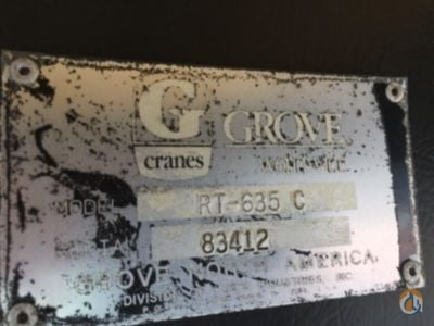 Sold 1996 Grove RT635C 4x4 Crane for  in Concord North Carolina on CraneNetwork.com