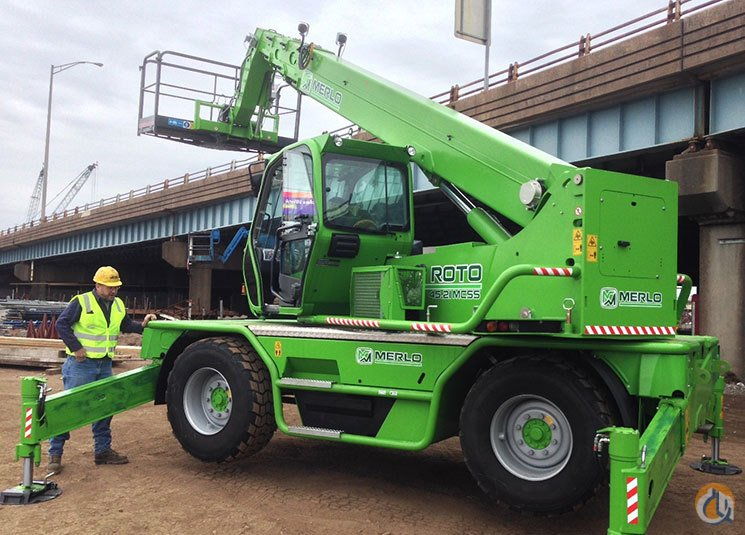 2015 Merlo Roto 4521MCSS Crane for Sale in Oxford Massachusetts on CraneNetworkcom