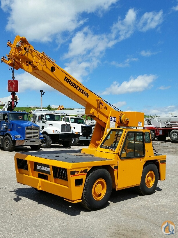 Sold 1995 Broderson IC80-2E Crane for in Cleveland Ohio on