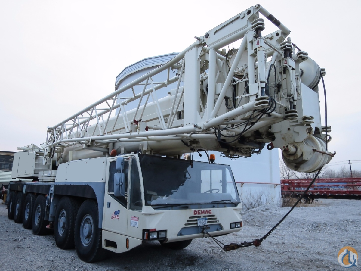 DEMAG AC535 AC180 200 TON 6 AXLE CRANE WITH 197 FEET MAIN BOOM Crane for Sale on CraneNetwork.com