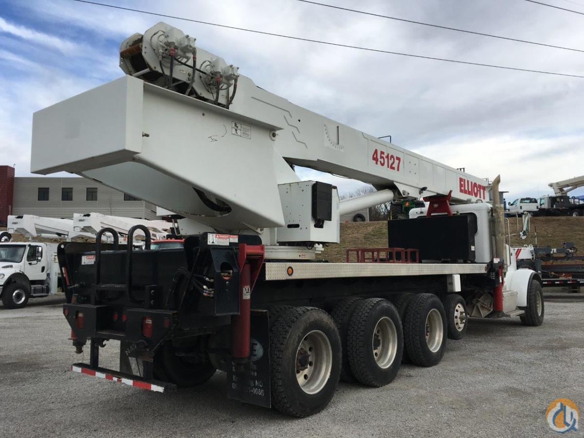 2013 Elliott 45127R Mounted on a 2013 Peterbilt 367 10x6 Crane for Sale in Kansas City Missouri on CraneNetwork.com