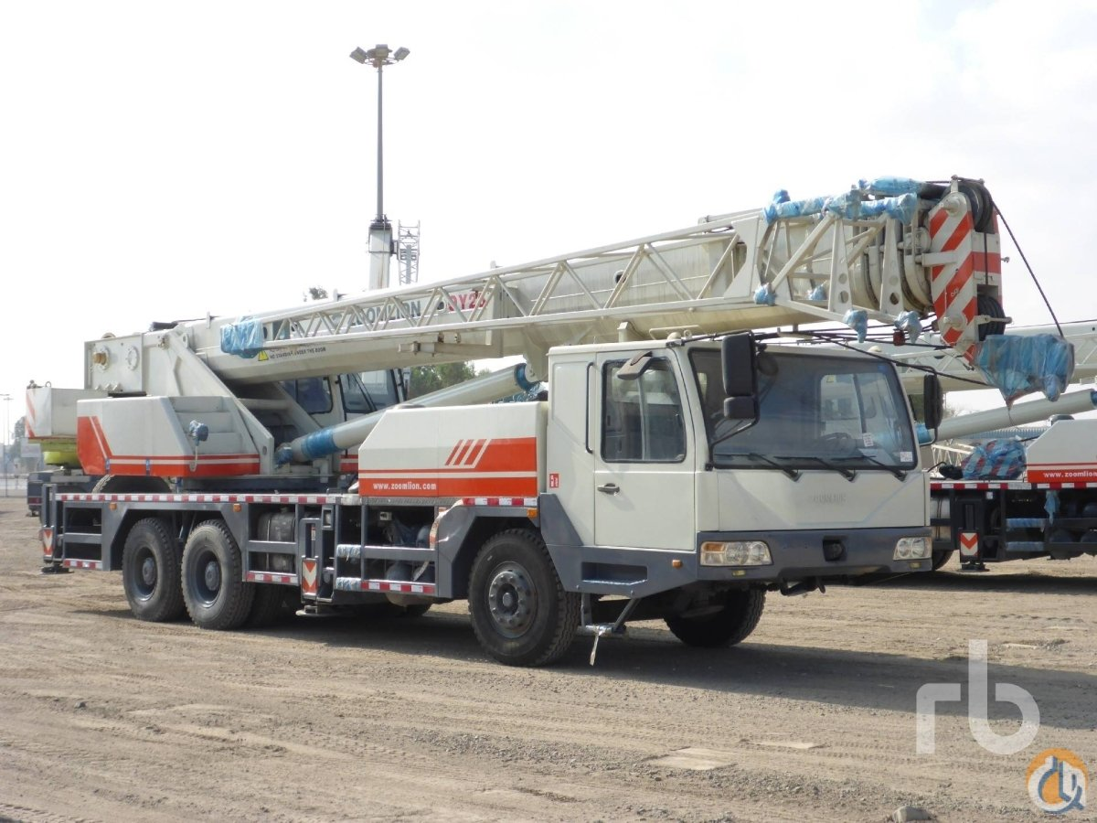 Sold 2012 ZOOMLION QY25V 25 Ton 6x4 Hydraulic Truck Crane Crane for  in Dubai Dubai on CraneNetworkcom