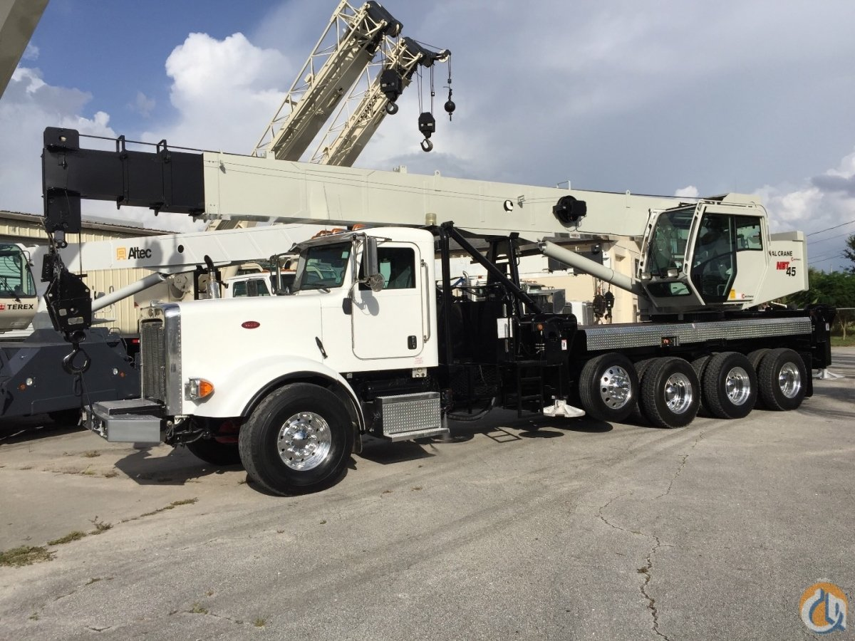 2011 NATIONAL NBT45 45 TON 367 PETE 425HP CUMMINS TRI-DRIVECROSS-LOCKS Removable AIR LIFT AXLE VERY LOW HRS  MILES FLORIDA Crane for Sale in Fort Pierce Florida on CraneNetwork.com