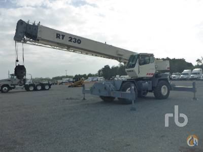 Sold 2000 TEREX RT230 30 Ton 4x4x4 Rough Terrain Crane Crane for  in Houston Texas on CraneNetworkcom