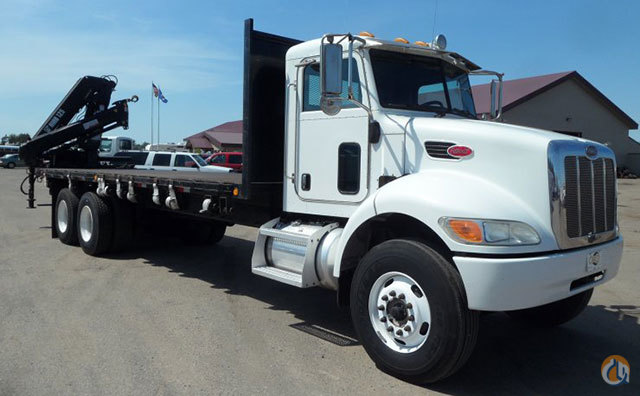 Sold 2007 Peterbilt 335 HIAB 125 Crane Rear Mount with Flat Bed