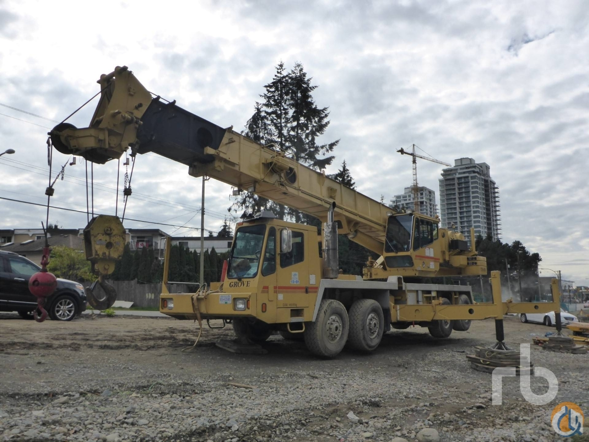 Sold 1998 GROVE TTS870B Crane for  in Chilliwack British Columbia on CraneNetworkcom