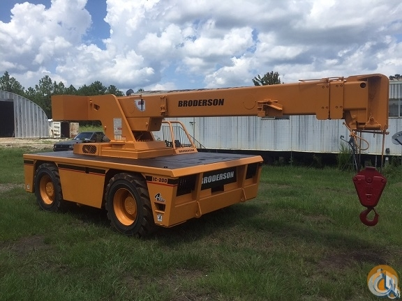 Broderson IC200-2E Crane for Sale or Rent in Houston Texas on CraneNetworkcom