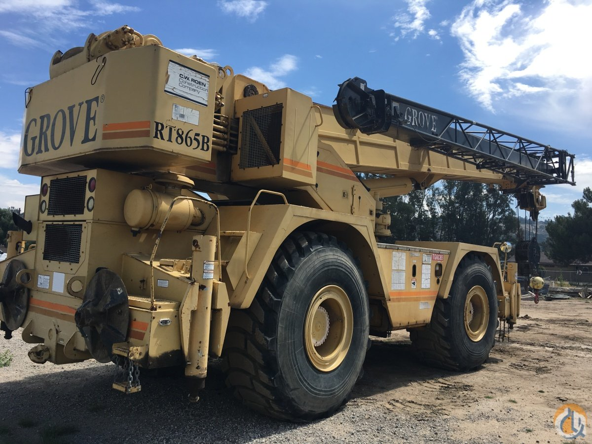 1994 Grove RT865B Crane for Sale in Turlock California on CraneNetwork.com