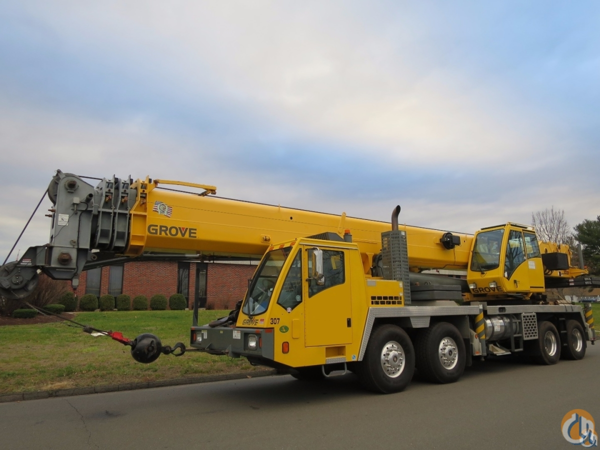 Grove TMS800E 80 Ton Truck Crane Full Power Boom SystemSimple Technology Auto Transmission Crane for Sale in Baltimore Maryland on CraneNetwork.com