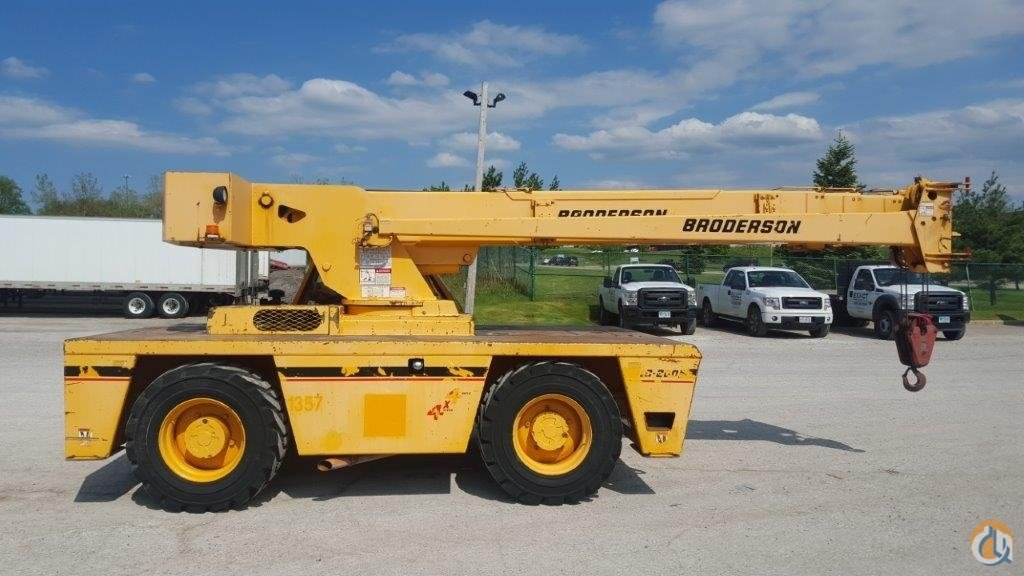 Sold 2007 Broderson IC200-3F Crane for  in Cleveland Ohio on CraneNetworkcom