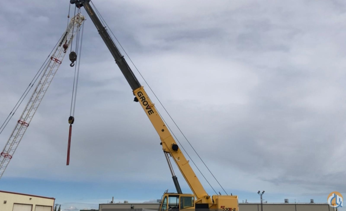 2008 Grove RT530E-2 30-Ton Rough Terrain Crane Crane for Sale in Edmonton Alberta on CraneNetwork.com