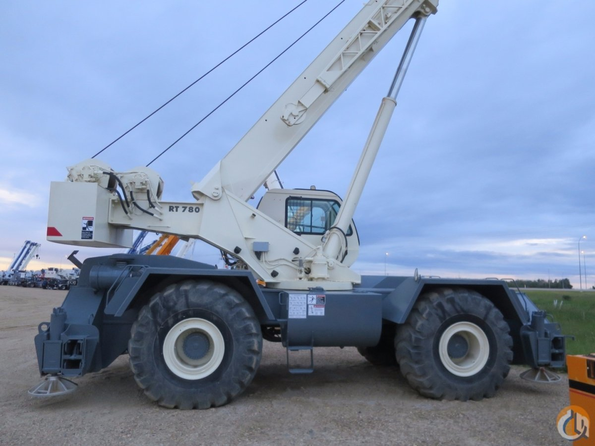 Jib Cranes Edmonton : Terex rt ton rough terrain crane for