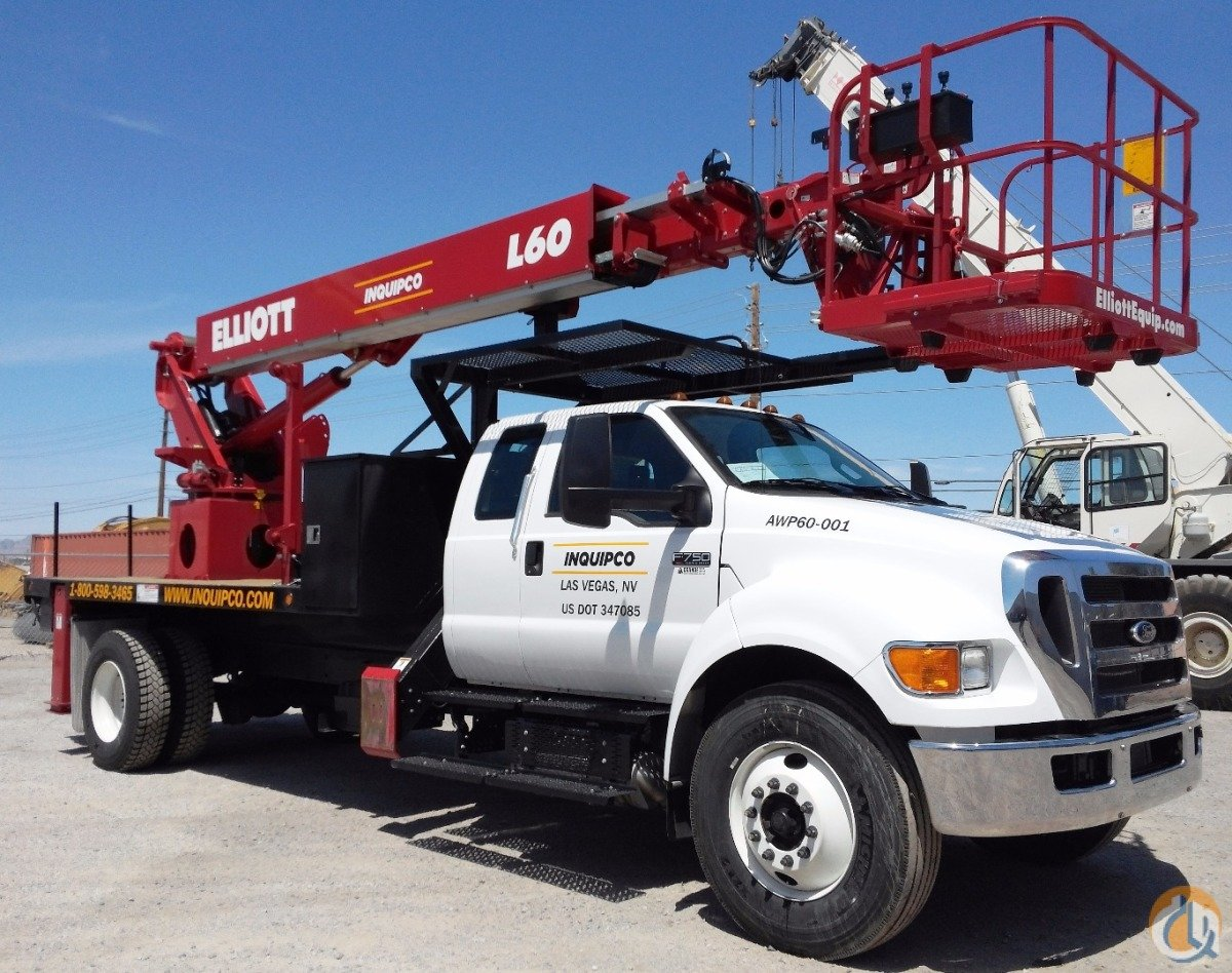 2015 Elliott L60R AWP Truck Crane for Sale or Rent in Las Vegas Nevada on CraneNetwork.com