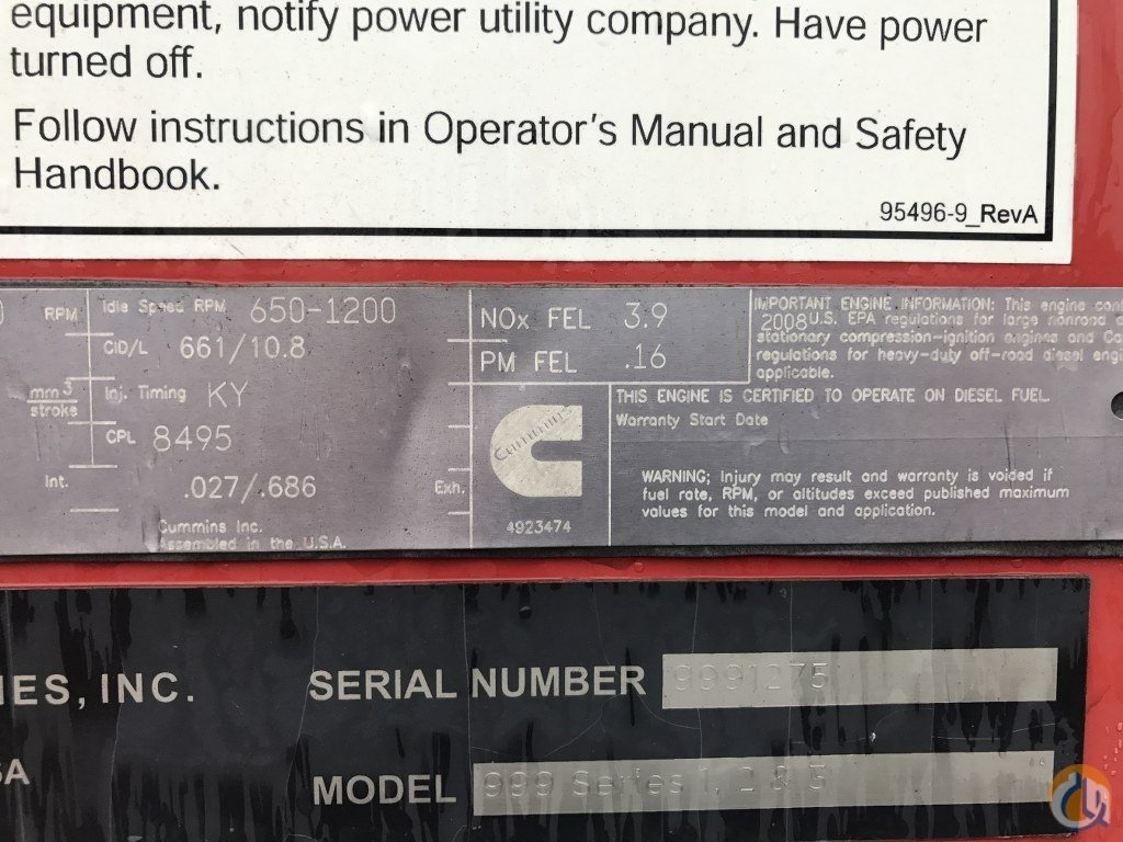 2009 Manitowoc 999 Iii Crane For Sale On Ignition Wiring Diagram T300 Kenworth