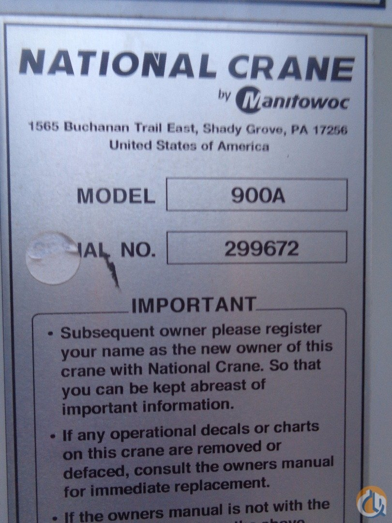 2014 National 9103A Crane for Sale in Tuscaloosa Alabama on CraneNetwork.com