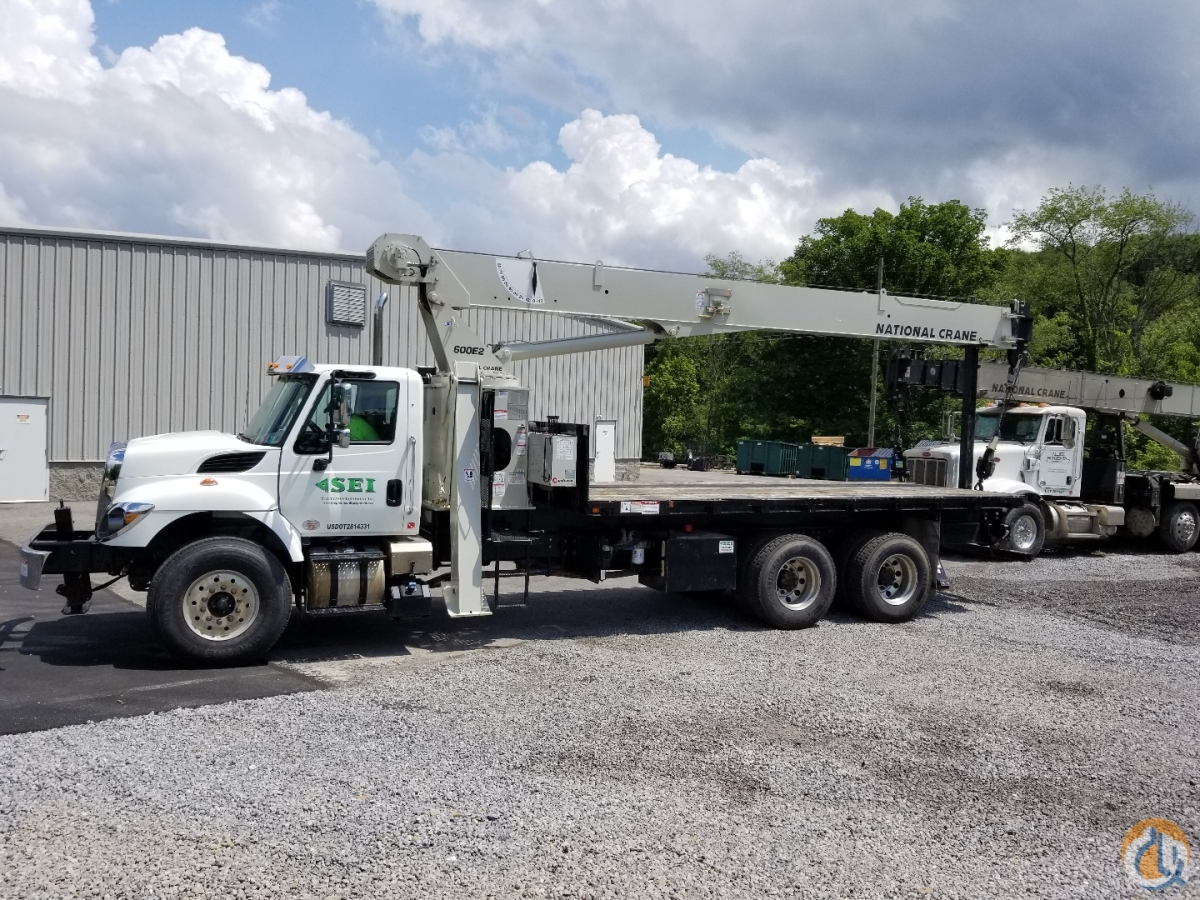 Like New 2017 National 690E2 mounted on 2017 International 7500 Crane for Sale or Rent in Harrisburg Pennsylvania on CraneNetwork.com