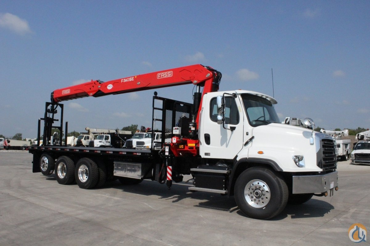 New Fassi F360SE.24 wallboard crane installed on 2020 Freightliner 114SD chassis Crane for Sale in Olathe Kansas on CraneNetwork.com