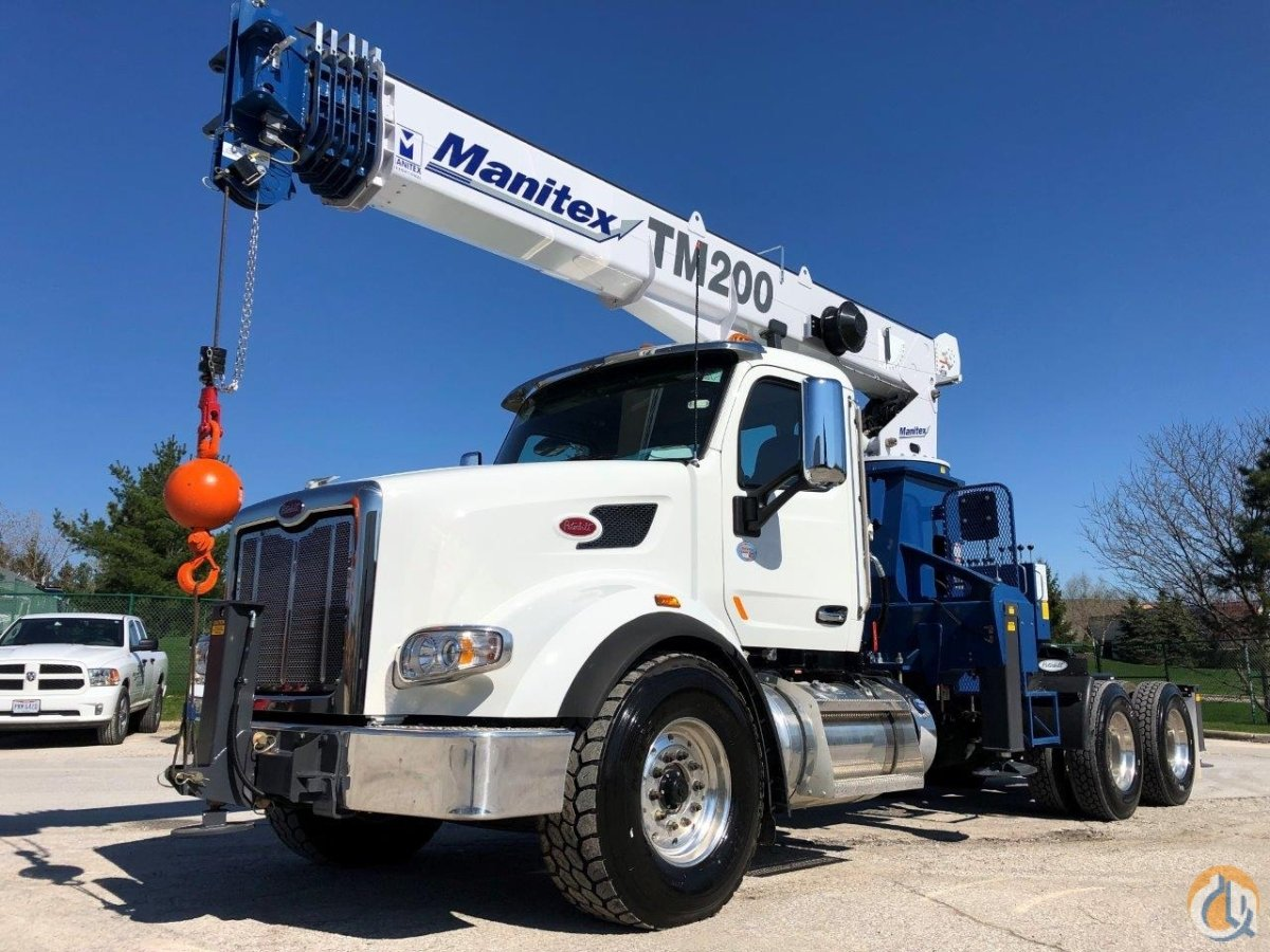 New Manitex 2085T mounted on NEW 2019 Peterbilt 567 Tractor Crane for Sale in Solon Ohio on CraneNetwork.com
