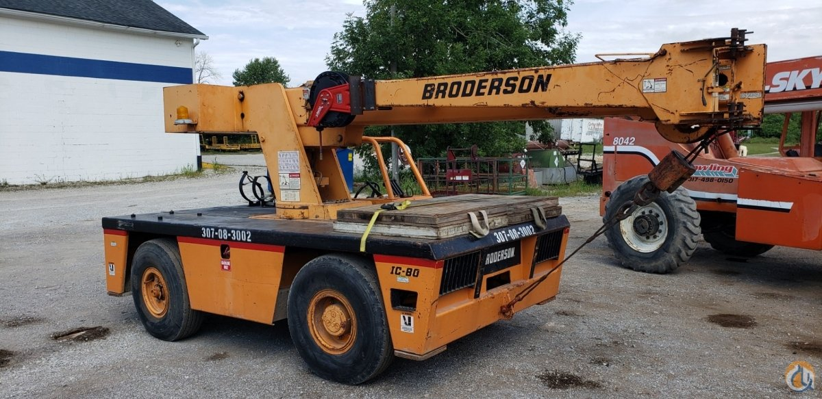 Sold 1998 Broderson IC80 3E Crane for  in Indianapolis Indiana on CraneNetwork.com