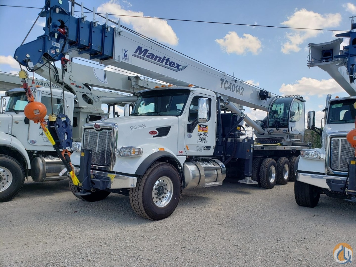 Manitex TC 40142 on 2020 Peterbilt 567 Crane for Sale or Rent in Converse Texas on CraneNetwork.com