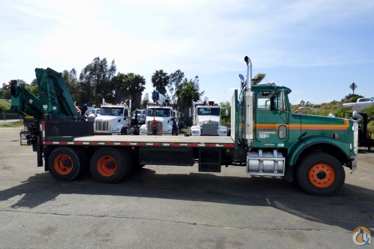 Hiab 300-3 articulating crane mounted to Freightliner FLD 120S chassis Crane for Sale in San Marcos California on CraneNetwork.com