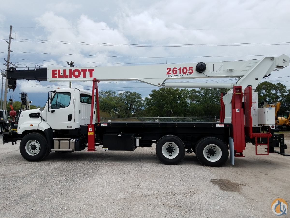 New Elliott 26105R on a Freightliner 108SD Crane for Sale in Tampa Florida on CraneNetwork.com