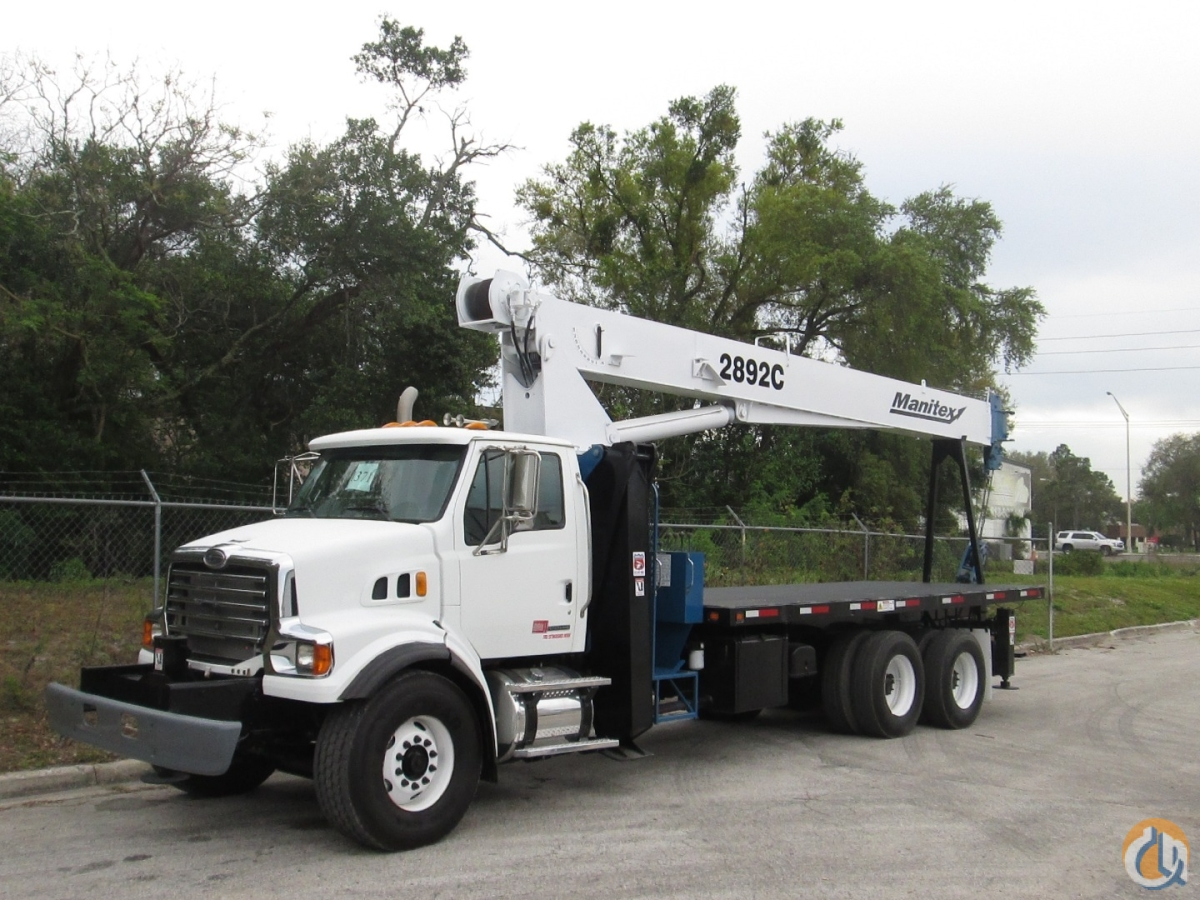2008 Manitex 2892C on a Sterling LT7500 Crane for Sale in Tampa Florida on CraneNetwork.com