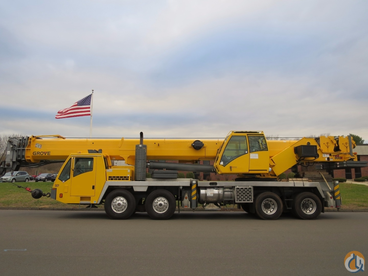 Grove TMS800E 80 Ton Truck Crane Full Power Boom SystemSimple Technology Auto Transmission Crane for Sale in New York New York on CraneNetworkcom