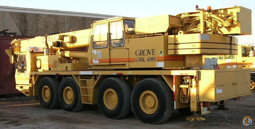 1999 GROVE GMK-4085 85 US TON ALL TERRAIN CRANE Crane for Sale or Rent in Stamford Connecticut on CraneNetwork.com
