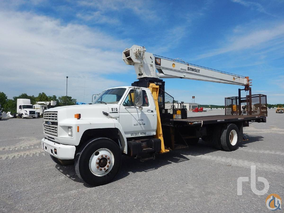 Sold 1988 FORD F800 SA wStinger 110-55 11 Ton Boom Truck Crane for  in Nashville Tennessee on CraneNetworkcom
