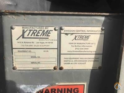 2012 Xtreme XR1245 Crane for Sale in Vallejo California on CraneNetwork.com